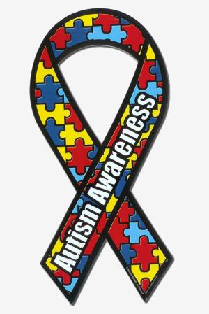 Autism Awareness Ribbon Magnet